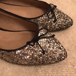 Sparkly Pointed Flats